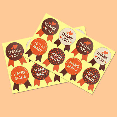 400Pcs Hand made, Thank You Stickers Labels Seal Gift Food Cookie Decal Party