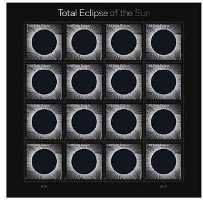 Total Eclipse of the Sun - USPS Forever Stamps Sheet of 16 - New 2017 Release