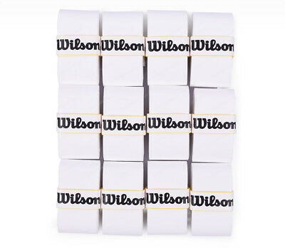 Wilson Tennis Pro Overgrip 12 Pack White Comfort Badminton Tape Player WRR9365WH