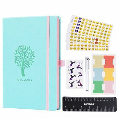 Bullet Journal - Lemome Dotted Numbered Pages Hardcover A5 Notebook with Pen