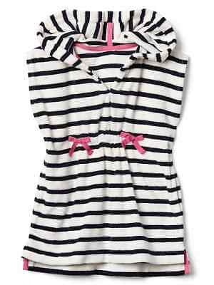 Gap Kids Toddler Girls Cozy Beach Cover Up Hoodie Navy Stripe #1950