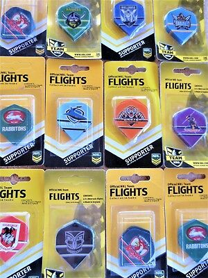 NRL DARTS FLIGHTS SET - Official Licensed Merchandise - One set of Three