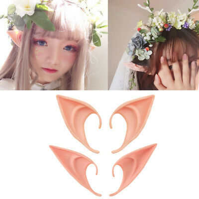 1 Pair The Hobbit Latex Elf Ears Cosplay Party Props Creative Halloween Costume