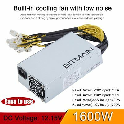 Original AntMiner APW3++ PSU 1600W Power Supply for Antminer D3 S9 S7 L3 In Hand