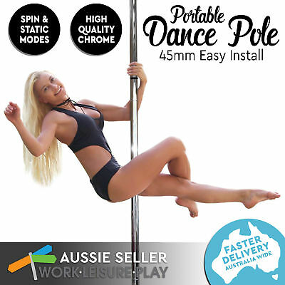 Dance Pole Portable Exercise Spinning Static Home Gym Dancing Fitness Profession