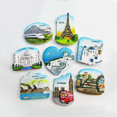 3D Fridge Magnet San Francisco London Paris Japan Greece Sydney Travel Souvenir