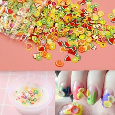 280Pcs Cartoon DIY Fruit Polymer Clay Toy Slime Accessories Jelly Mud Hand Gum
