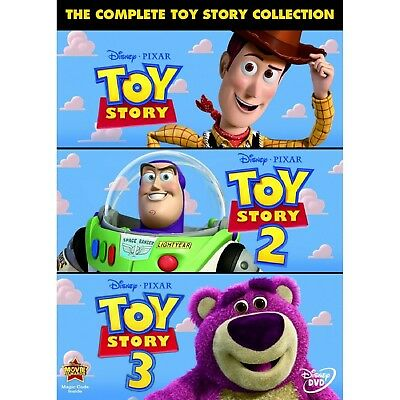 THE COMPLETE TOY STORY COLLECTION 1-3 DVD UK Release NEW Sealed R2