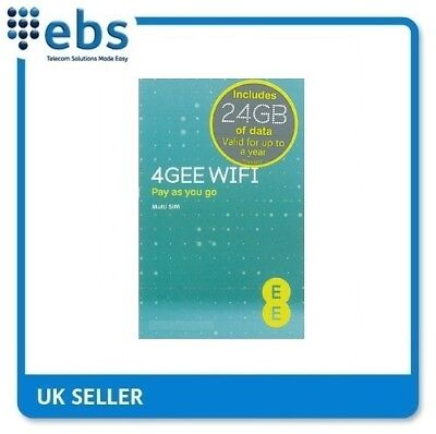 EE PAYG 4G Data Sim Preloaded With 24GB Data