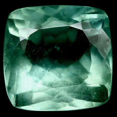 92.12 Ct Natural! Big! Green China Fluorite Cushion