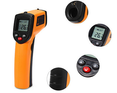 Handheld Temperature Gun Non-contact Infrared IR Laser LCD Digital Thermometer