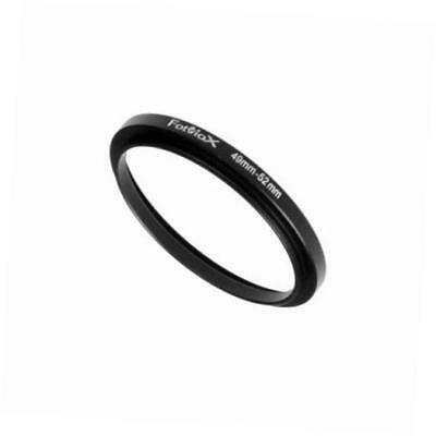 metal step up ring filter adapter, anodized black aluminum 49mm-52mm 49-52 mm