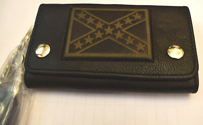Old School CSA Wallet Chain Purse Flag Chain NAKED LEATHER ROCKABILLY NEW