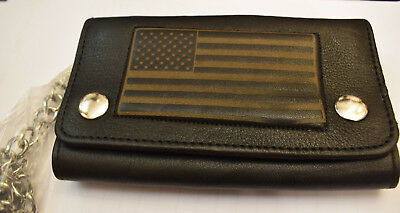 Old School USA Wallet Chain Purse Flag Chain NAKED LEATHER ROCKABILLY NEW