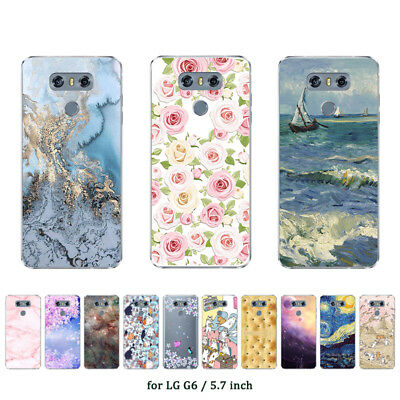"""5.7"""" Soft TPU Silicone Case For LG G6 Protective Phone Back Cover Skins Marble"""