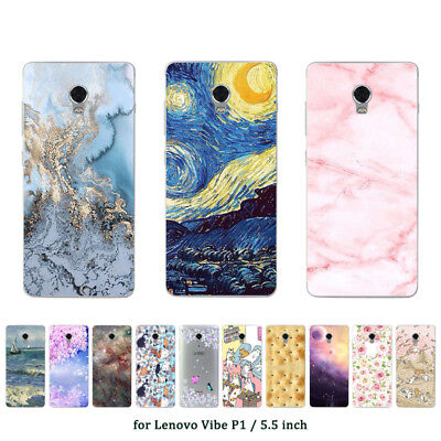 Soft TPU Silicone Case For Lenovo Vibe P1 Protective Back Covers Skins Marble