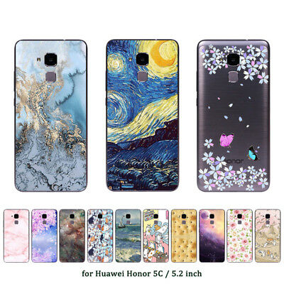 """5.2"""" Soft TPU Silicone Case For Huawei Honor 7 Lite 5C GT3 Back Cover Marble"""