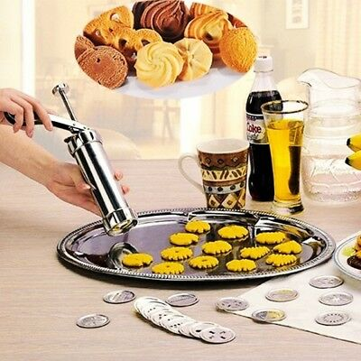 Cookie Cutter Baking Tools Cookie Biscuits Press hine Kitchen Tool Bakeware M4E8