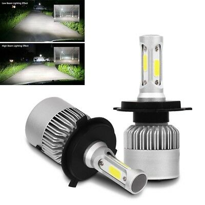 2xS2 H4 72W 8000LM Cree led Headlight Car Hi/Lo Beam Auto Bulbs 6000K White O4Q7