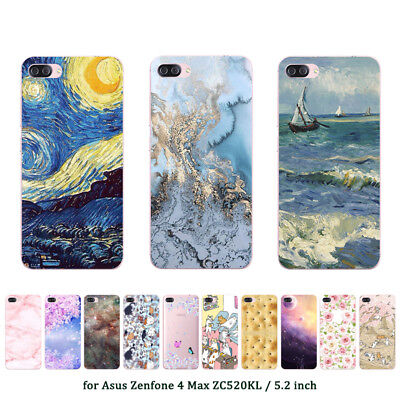 Soft TPU Silicone Case For Asus Zenfone 4 Max ZC520KL Back Cover Skins Marble
