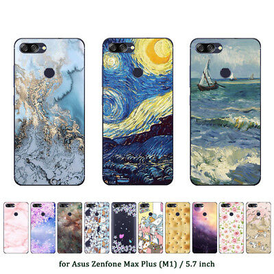 Soft TPU Silicone Case For Asus Zenfone Max Plus M1 Phone Back Cover Skin Marble