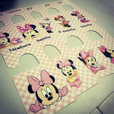 Baby clothes closet dividers. Minnie Mouse. Newborn - 4T. CHD000006