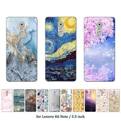Soft TPU Silicone Case For Lenovo K6 Note Protective Back Covers Skins Marble