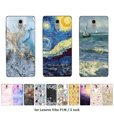 Soft TPU Silicone Case For Lenovo Vibe P1M Protective Back Covers Skins Marble