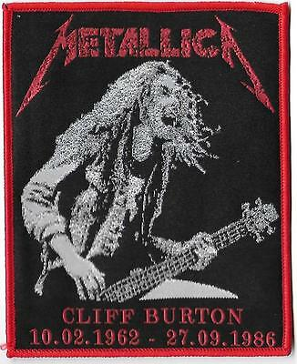 METALLICA   - Cliff Limited edition patch -WOVEN SEW ON PATCH - free shipping !!