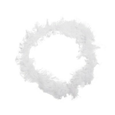 White Feather Boa Fluffy Craft Decoration 6.6 Feet Long R5T8