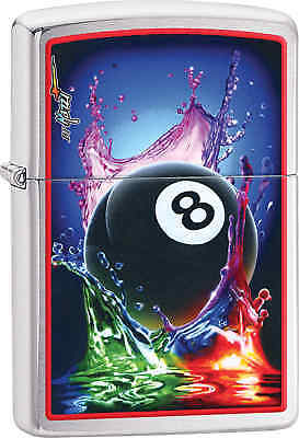 Zippo Classic #8 Ball Brushed Chrome Windproof Lighter 29295