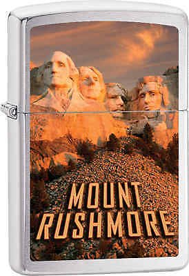 Zippo Classic Mount Rushmore Brushed Chrome Windproof Lighter Z538