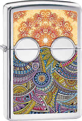 Zippo Classic Intricate Patterns High Polish Chrome Windproof Lighter 28871