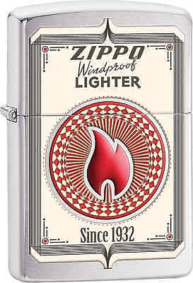 Zippo Classic Zippo Calling Card Brushed Chrome Windproof Lighter 28831