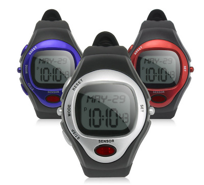Fitness Gym Watch Pulse Heart Rate Monitor Calorie Counter Sport Running - Grey