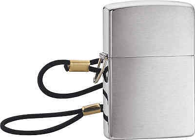 Zippo Classic Loss Proof with Lanyard Brushed Chrome Windproof Lighter 275