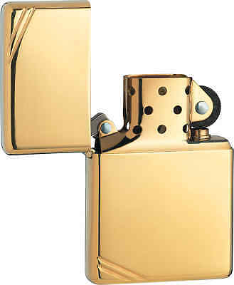 Zippo Vintage Series 1937 with Slashes High Polish Brass Windproof Lighter 270