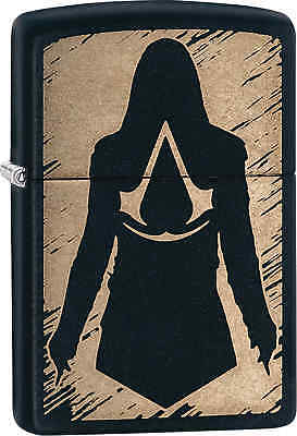 Zippo Classic Assassins Creed Black Matte Windproof Lighter 29488