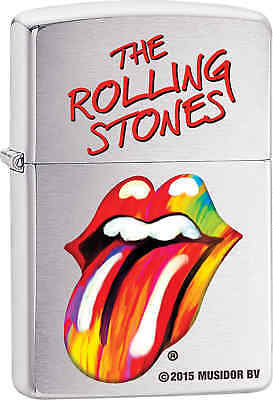Zippo Classic The Rolling Stones Brushed Chrome Windproof Lighter Z500