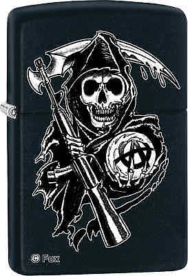 Zippo Classic Sons of Anarchy Reaper Black Matte Windproof Lighter 28504