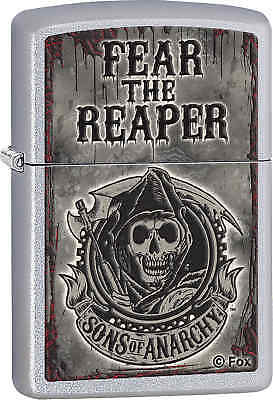 Zippo Classic Fear Reaper Sons of Anarchy Satin Chrome Windproof Lighter 28502