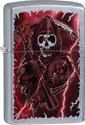 Zippo Classic Sons of Anarchy Reaper Street Chrome Windproof Lighter Z613