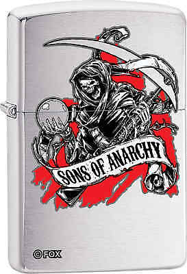 Zippo Classic Sons of Anarchy Brushed Chrome Windproof Lighter Z483