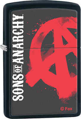 Zippo Classic Sons Of Anarchy Black Matte Windproof Lighter Z115