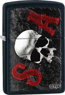 Zippo Classic Sons Of Anarchy Skull Black Matte Windproof Lighter Z116