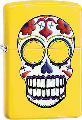 Zippo Classic Day of the Dead Skull Lemon Windproof Lighter 24894