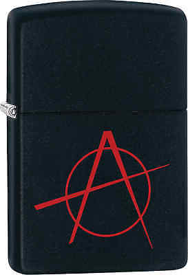 Zippo Classic Anarchy Black Matte Windproof Lighter 20842