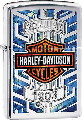 Zippo Classic Harley Davidson 1903 High Polish Chrome Windproof Lighter 29159