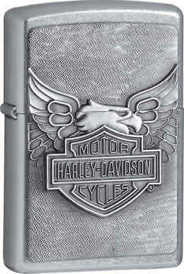Zippo Classic Harley Davidson Iron Eagle Street Chrome Windproof Lighter 20230