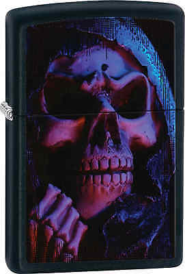 Zippo Classic Skull Black Matte Windproof Lighter Z466